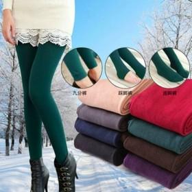 秋冬裤拉绒加绒厚打底裤显瘦修身保暖踩脚连裤袜打底裤