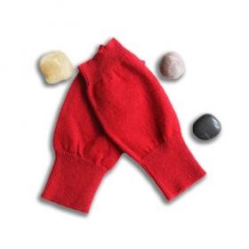 学生冬天写字用手套半指羊绒纯色小孩针织手套加厚