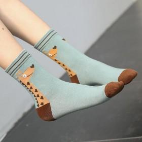 5双袜子女中筒袜女学生韩版秋冬个性学院风保暖原宿风