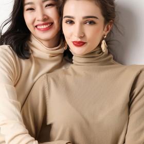 《赔钱促销》堆堆领羊绒衫女毛衣zhenzhisha