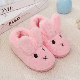 儿童兔子包跟棉拖鞋女童卡通保暖宝宝小孩冬儿童棉鞋男