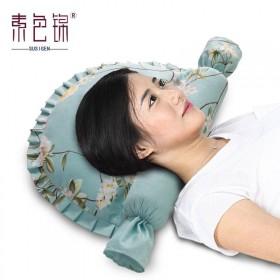 素色锦 颈椎枕颈椎专用枕头护颈枕保健枕头