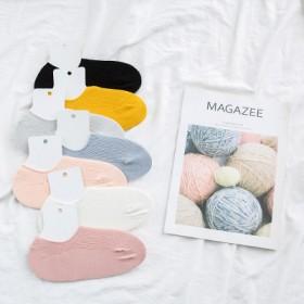 32袜子女短袜透气女士棉质袜子防脱时尚韩版休闲船袜