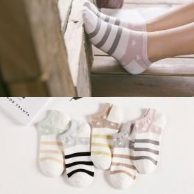 纯棉女士袜子韩国可爱夏季运动棉袜浅口隐形袜女防臭吸