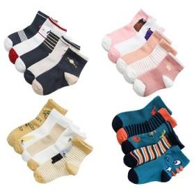 5双装儿童袜子纯棉中筒男童袜女童袜子韩版卡通