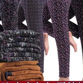 驼绒棉裤三层加厚女士加肥外穿打底裤中老年保暖裤