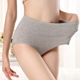 3条装高腰内裤女士95%棉大码性感收腹提臀纯棉纯色