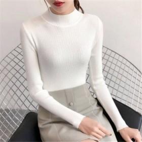 日系时尚半高领女式毛衣外贸原单新款打底衫女士