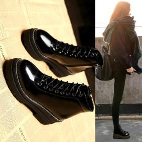 马丁靴女英伦风短靴韩版百搭雪地靴高跟女鞋