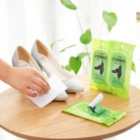 【10片装】擦皮鞋皮包一湿巾去污上油上光一次性湿巾