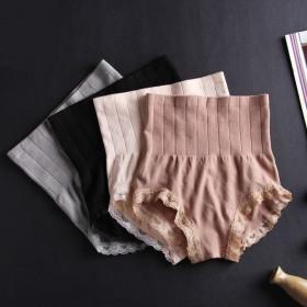 【2条装】无缝蕾丝收腹裤 高腰塑身收腹提臀裤女士内