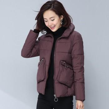 短款宽松小棉袄女秋冬新款韩版休闲加厚保暖小个子棉衣