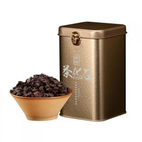 安够云南普洱茶熟茶茶化石 糯香茶头铁盒半斤装 熟茶