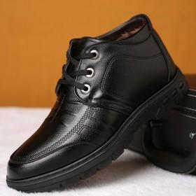 男棉鞋男鞋2018冬季新款休闲皮鞋高帮加绒防滑保暖