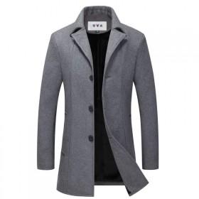 【雅鹿】韩版修身羊毛加绒毛呢外套