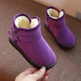 儿童雪地靴宝宝加厚棉鞋男童短靴女防滑软底保暖童鞋