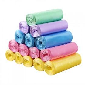 【5卷100只】加厚垃圾袋塑料袋卫生袋手提袋收纳