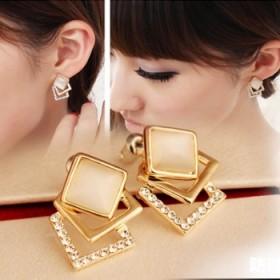 耳环时尚个性耳钉耳饰银饰珍珠耳环镶钻耳坠短长款