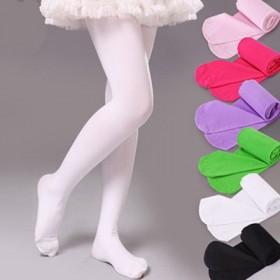女童白色舞蹈连裤袜打底裤天鹅绒夏季糖果色童装童袜
