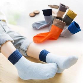 【5双装】儿童棉袜子秋冬加厚学生袜男童女童棉袜中筒