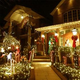 太阳能室外ins风星星点灯挂树上的阳台装饰灯led