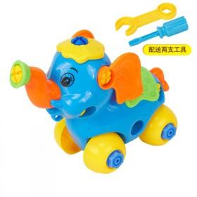 DIY螺丝螺母拼装卡通宝宝益智拆装玩具车飞机模型