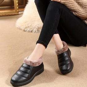 【升级版加绒不加价】女鞋冬季防滑棉短靴加绒妈妈鞋保