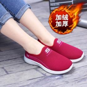老北京布鞋加绒加厚冬季棉鞋中老年单鞋休闲运动懒人一