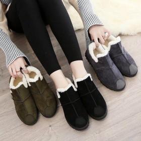 秋冬新款棉鞋女冬季保暖加绒韩版百搭休闲鞋一脚蹬