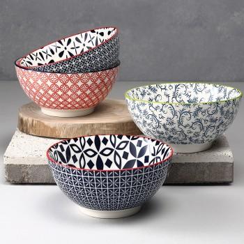 个性陶瓷碗大号饭碗家用6英寸汤碗耐热欧式餐具吃饭碗