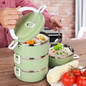 【多层可选】大容量不锈钢饭盒保温分格成人日式可爱便