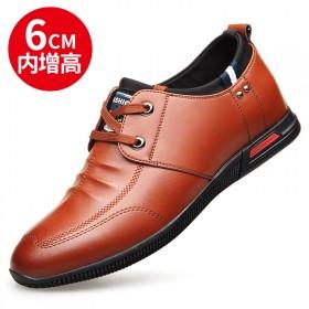 新款真皮內增高男士商務休閑皮鞋軟底英倫男鞋