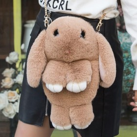 潮流女士文艺女式手提兔子毛毛包包女中国风韩版创意韩