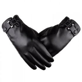 冬季保暖骑行皮手套
