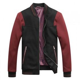 海澜之家品牌毛呢夹克男修身商务立领厚款男装男士外套