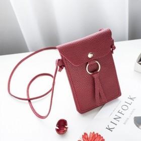 韩版新款小包包二层零钱手机袋单肩小包流苏斜挎手机包