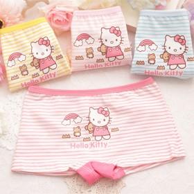 4条装哈喽猫可爱儿童内裤全棉卡通印花