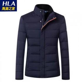 品牌剪标男士纯色立领拉链保暖羽绒服外套夹克