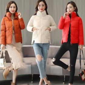 棉衣女短款2018新款加厚韩版面包服冬季羽绒棉服