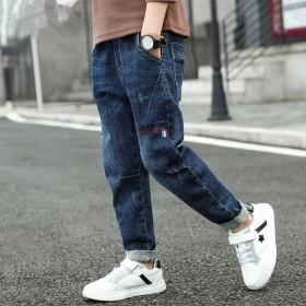 秋冬款中大童加绒加厚牛仔裤冬季男童牛仔长裤儿童裤子