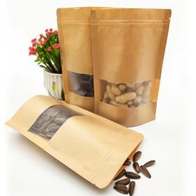 10个不同尺寸 牛皮纸袋自封袋茶叶密封袋干果食品袋
