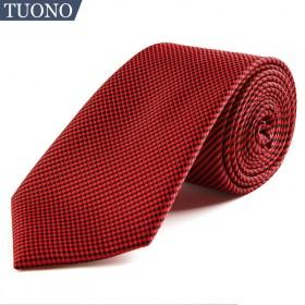 TUONO托诺年会新年红领带商务领带礼盒装8CM