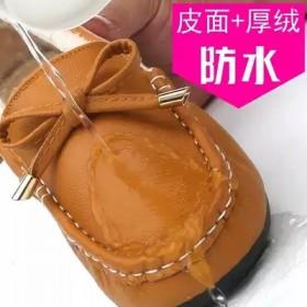 防水豆豆鞋女秋冬季新款加绒棉鞋韩版百搭防滑孕妇妈妈