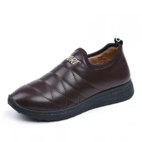 老北京布鞋保暖棉鞋女士防水加绒短靴防滑加厚妈妈棉靴