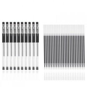 10支中性笔送24支笔芯红蓝黑色水性笔签字笔0.5