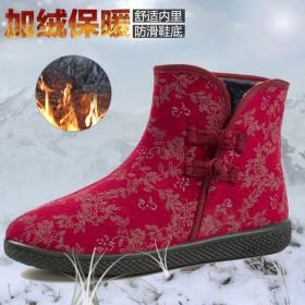 2018冬季新款软底保暖女棉鞋 时尚防滑轻便加绒