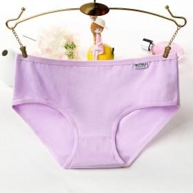 全棉性感内裤低腰纯棉三角裤女士无痕底裤纯色少女