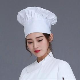 西餐帽子厨师 帽布料厨房工作帽女防油烟家用透气水洗