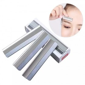 10片装 专业修眉刀片刮眉刀片套装修眉不锈钢刀片