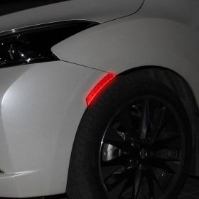 汽车轮眉反光贴摩托车反光贴纸个性改装车身反光贴条